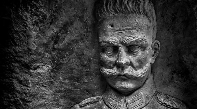 Over several years, photographer Jeff Gusky made numerous excursions into underground WWI soldier living spaces to document the stone carvings of the soldiers with high-end art photography. This is a portrait of Paul von Hindenburg, Chief of the German General Staff from August 1916 to the end of the war. (Photo by Jeff Gusky)