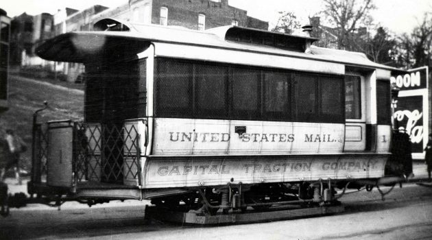 Washington, D.C. Railway Post Office trolley car #1