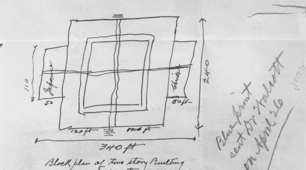 Charles Lang Freer Sketch on Hotel Stationery. Courtesy Smithsonian's Freer Gallery of Art.