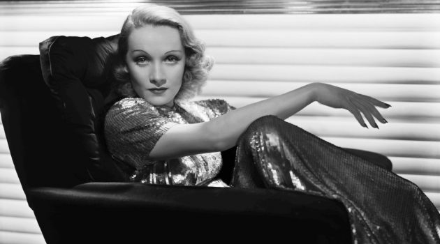 Marlene Dietrich by George Hurrell, Photo blow-up, 1937. (Courtesy Michael Hadley Epstein and Scott Edward Schwimer, © HurrellPhotos.com)