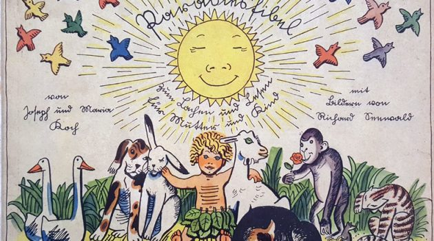 "Cover of children's book ""Paradiesfibel"" by Joseph and Maria Koch (1900-70)"