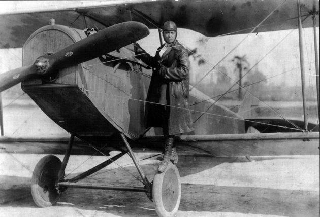 Bessie Coleman, First African American Licensed Pilot