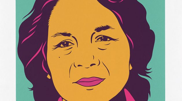 Dolores Huerta by Barbara Carrasco. Silkscreen 1999. National Portrait Gallery, Smithsonian  Institution, 1999 Barbara Carrasco. Courtesy of the National Portrait Gallery.
