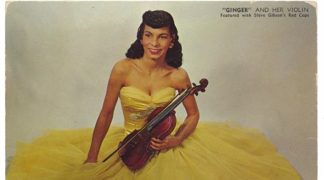 Ginger and Her Violin, 1954. Photograph by Robert S. Scurlock, National Museum of African American History and Culture, Gift of Ivy G. and Dean Tatam Reeves in memory of John Reeves.