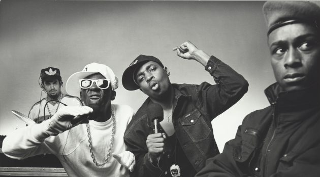 Public Enemy in 1987 by Jack Mitchell. (Image courtesy Smithsonian's National Museum of African American History and Culture)