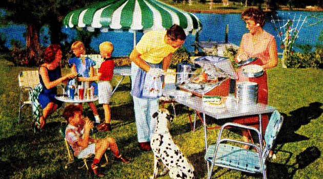 The American backyard as we know it developed after World War II